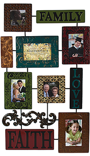 A Family is God's Masterpiece Collage Wall Photo Frame  -