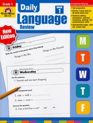 Daily Language Review Grade 1   -              By: Jill Norris