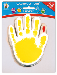 Paper Handprints, Package of 42 (Assorted Colors)  -