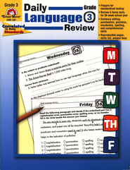 Daily Language Review Grade 3   -     By: Laura B. Williams
