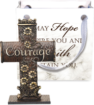 Cross-to-Go, Courage, Gift Bagged  -
