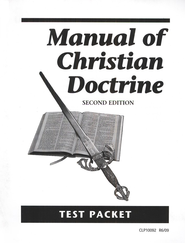 Manual of Christian Doctrine Test   -