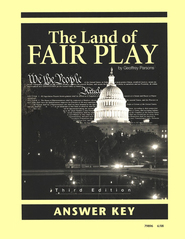 The Land of Fair Play, Third Edition Answer Key, Grade 8 (Remedial  9-12)  -     By: Geoffrey Parsons