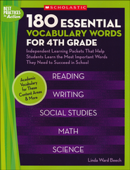 180 Essential Vocabulary Words for 4th Grade  -     By: Linda Beech