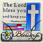 The Lord Bless You Glass Tea Light Holder  -