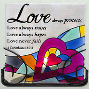 Love Always Protects Tea Light Holder  -