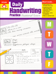 Daily Handwriting Practice: Traditional Cursive   -