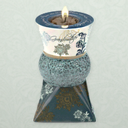 Grandmother Ceramic and Mosaic Tea Light Holder  -