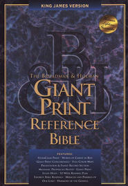 KJV Giant Print Reference Bible, Bonded leather, Black,  Thumb-Indexed  -