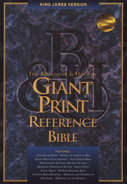 KJV Giant Print Reference Bible, Bonded leather, Navy blue,  Thumb-Indexed  -
