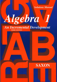 Saxon Algebra 1, Solutions Manual   -