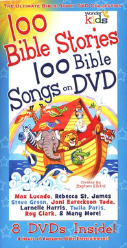 The Ultimate Bible Story DVD Collection   -              Narrated By: Max Lucado, Rebecca St. James                   By: Max Lucado
