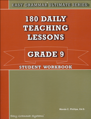 Easy Grammar Ultimate Series: 180 Daily Teaching Lessons, Grade 9 Student Workbook  -     By: Dr. Wanda C. Phillips