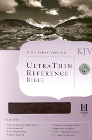 KJV Ultra Thin Reference Bible, Bonded leather, Burgundy   -