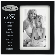 A Daughter Holds your Hand for A While Photo Frame  -