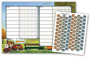 Attendance Chart and Stickers  -