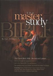 KJV Master Study Bible, Bonded leather, Burgundy   -