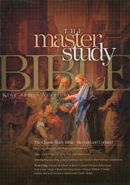 KJV Master Study Bible, Genuine leather, Burgundy   -