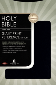 NKJV Giant Print Center-Column Reference Bible, Leatherflex, Black  -