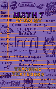 Teaching Textbooks: Math 7 CD-ROM Set (Windows & Macintosh)  -