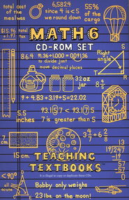 Teaching Textbooks Math 6 CD-ROM Set (Windows & Macintosh)  -