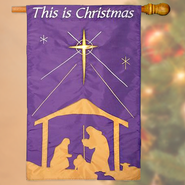 This Is Christmas, Large Applique FLag  -