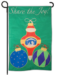 Share The Joy Of Christmas, Small Applique Flag  -
