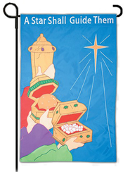 A Star Shall Guide Them, Small Applique Flag  -
