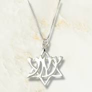Yeshua Star of David, Sterling Silver Pendant   -