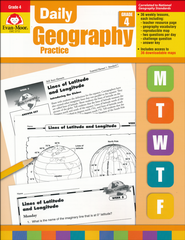 Daily Geography Practice, Grade 4   -