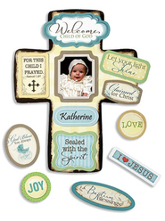 For This Child I Prayed Baptism Cross with Magnet Set  -