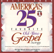 America's 25 Favorite Old-Time Gospel Songs, Volume 1, Split  Trax CD  -