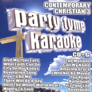 Party Tyme Karaoke: Contemporary Christian 3 (16 Track Version) CD  -