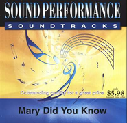 Mary Did You Know, Accompaniment CD   -              By: Michael English