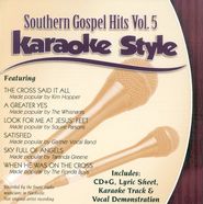 Southern Gospel Hits, Volume 5, Karaoke Style CD   -