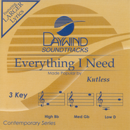 Everything I Need, Accompaniment CD   -     By: Kutless