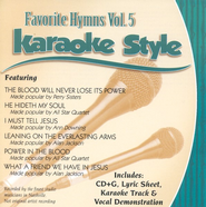 Favorite Hymns, Volume 5, Karaoke Style CD   -