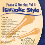Praise & Worship, Volume 6, Karaoke Style CD   -