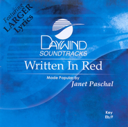 Written In Red, Accompaniment CD   -