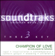 Champion Of Love, Accompaniment CD   -              By: The Cathedrals
