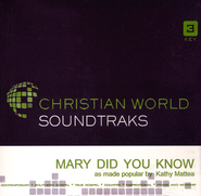 Mary Did You Know, Accompaniment CD   -     By: Kathy Mattea