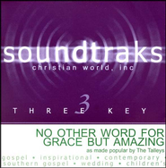 No Other Word For Grace But Amazing, Accompaniment CD   -     By: The Talleys
