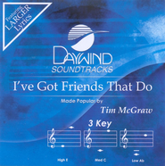 I've Got Friends That Do, Accompaniment CD   -     By: Tim McGraw