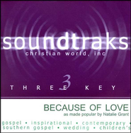 Because Of Love, Accompaniment CD   -     By: Natalie Grant