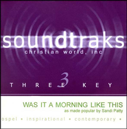 Was It A Morning Like This, Accompaniment CD   -     By: Sandi Patty