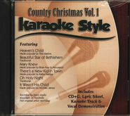 Country Christmas, Volume 1, Karaoke Style CD   -