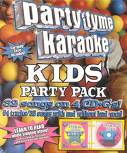 Party Tyme Karaoke: Kids Party Pack, 4 CDs   -     By: Party Tyme Karaoke