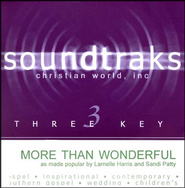 More Than Wonderful, Accompaniment CD   -     By: Larnelle Harris, Sandi Patty