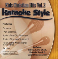 Kids Christian Hits, Volume 2, Karaoke Style CD   -