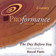 The Day Before You, Accompaniment CD   -              By: Rascal Flatts